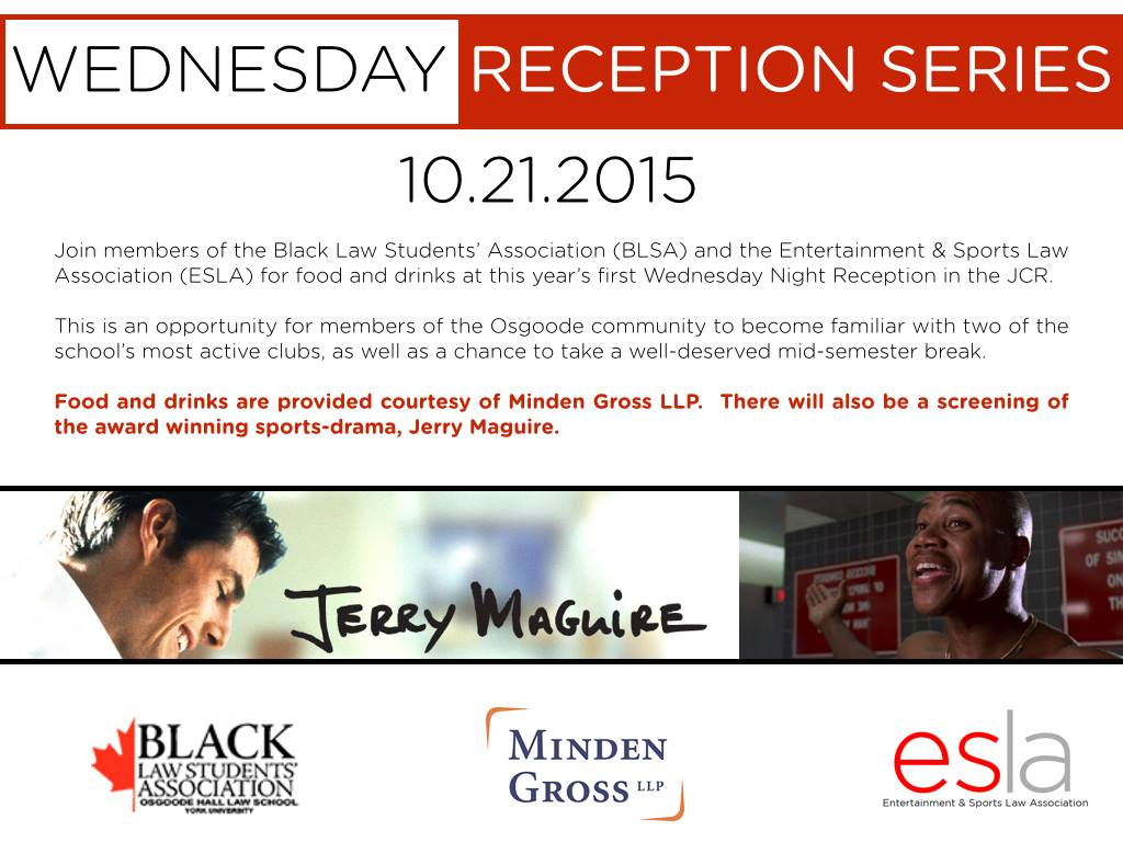 Wednesday Reception Series